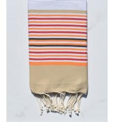 Fouta 5 colori grigio chiaro, beige, arancione, rosso e antracite