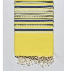 Fouta Telo mare arabesco neon giallo e blu
