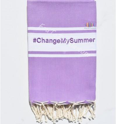 Fouta ricamo colore viola chiaro