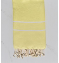 Fouta chevron giallo chiaro