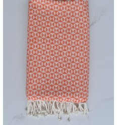 Fouta papillon orange clair