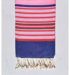 Telo mare 5 colori rosa chiaro, jeans blu, rosso, grigio chiaro e ardesia