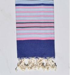 Telo mare 5 colori blu, rosa chiaro, grigio chiaro e ardesia
