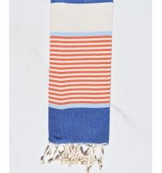 da bambino Blue jeans , blu cielo, arancione e bianco crema