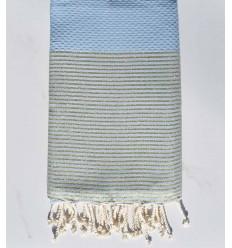 telo mare lurex favo blu maya