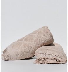 Asciugamano ospite ELYSSA beige