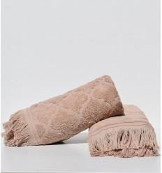 Asciugamano ospite ELYSSA beige scuro