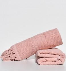 Asciugamano ospite HANNIBAL colore salmone