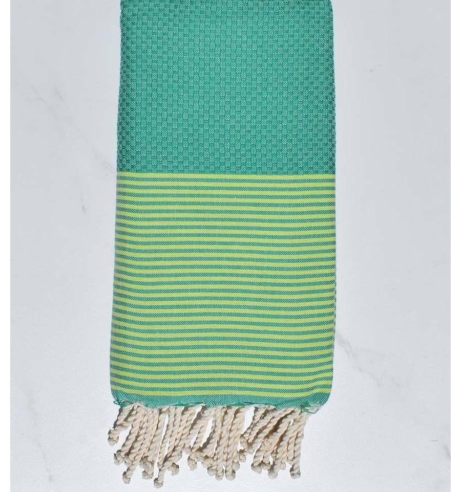 colori armoniosi prodotti caldi promozione speciale telo mare favo verde menta verde a strisce chartreuse