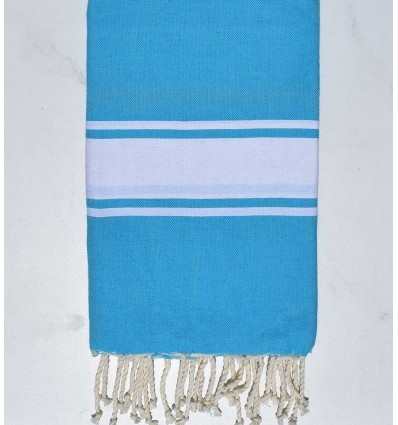 Fouta bleu azur