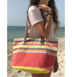 Borsa da spiaggia telo mare 5 colori nacart leggero, grigio, arancione, marrone e giallo