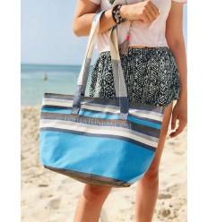 Borsa da spiaggia telo mare 5 colori jeans blu cielo, bianco, grigio, arancione, marrone e blu