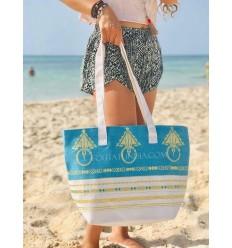borsa da spiaggia telo mare khlela blu azzurro