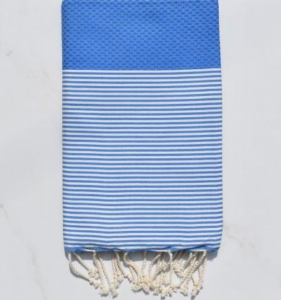Fouta nido d'ape blu marino