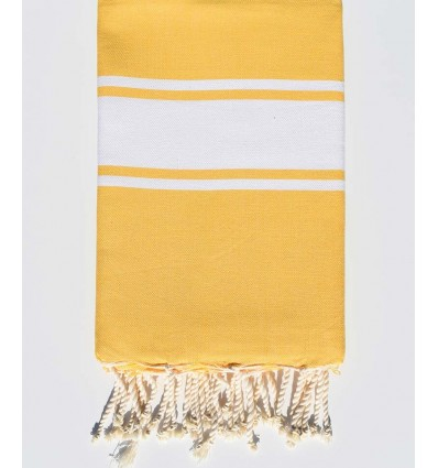 Fouta Plate jaune safran