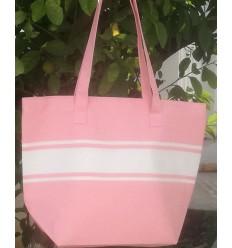 borsa da spiaggia rosa chiaro