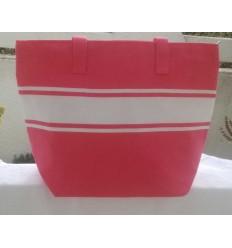 borsa da spiaggia rosa fucsia