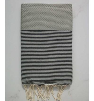 Fouta grigio righe grige anthracite